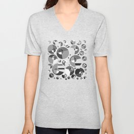 Bubble Grey 11 Unisex V-Neck