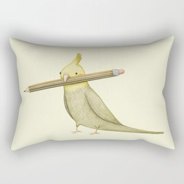 Cockatiel & Pencil Rectangular Pillow