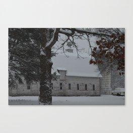 Zimmerman White Barn II Canvas Print
