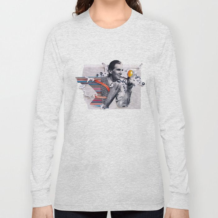 Hot Air   Collage Long Sleeve T-shirt