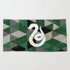 Slytherin House Pattern Beach Towel