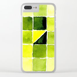 Color Chart - Lemon Yellow (DS) and Sap Green (DS) Clear iPhone Case