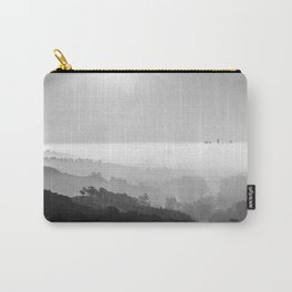 Above The Clouds | Los Angeles | Black & White Carry-All Pouch