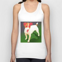 jack russell Tank Tops featuring Jack Russell by CyberStar Media