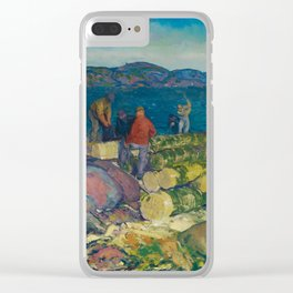 George Bellows, Dock Builders, 1916 Clear iPhone Case