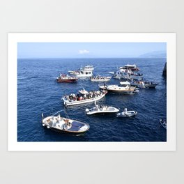 Blue Grotto at Sea Art Print