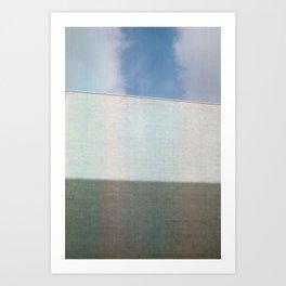 Shadow, Wall, Sky Art Print