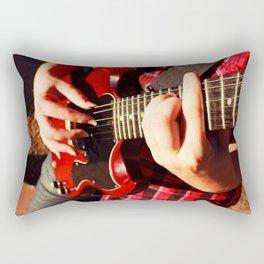 Guitar picking Rectangular Pillow