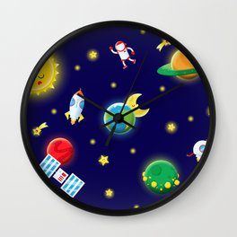 Outer Space Mission Wall Clock