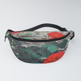 Roses by the wall Fanny Pack