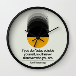 Discover Yourself Wall Clock