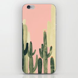 pink cactus iPhone Skin