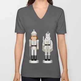 Toy King and Mouse King on Christmas Eve. Unisex V-Neck
