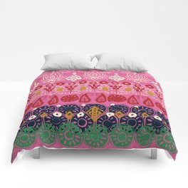lotus block pink Comforters