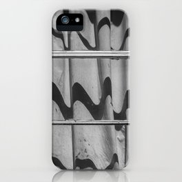 Motel Room Window in Black and White iPhone Case