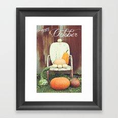 Happy October Framed Art Print