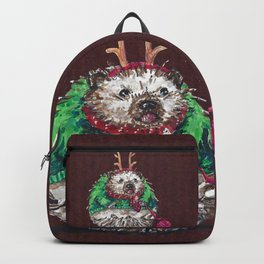 Holiday Sweater Crochet Critter Backpack