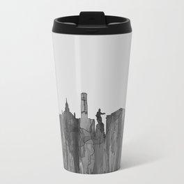 Aberdeen, Scotland Skyline - Navaho B&W Travel Mug