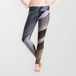 Abstract Diagonal Lines Leggings