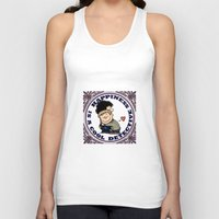 johnlock Tank Tops featuring Happiness Is A Cool Detective by Marlowinc