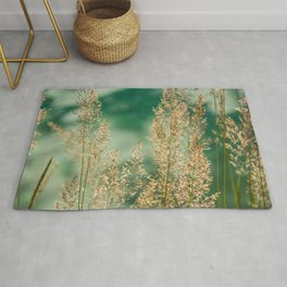 Grass on the water Rug