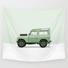Car illustration - land rover defender Wall Tapestry