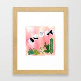 Gemini Moons Framed Art Print