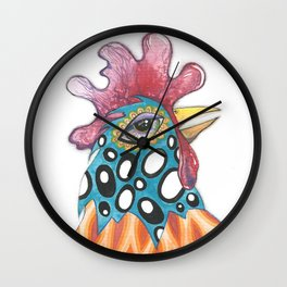 Funky Chicken Wall Clock