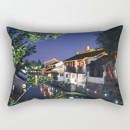 China Suzhou Night Scene Rectangular Pillow