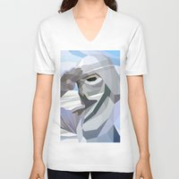 snow V-neck T-shirts featuring Snow by Liam Brazier