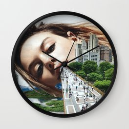 NEW girl in town Wall Clock