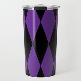 Harlequin - purple/black Travel Mug