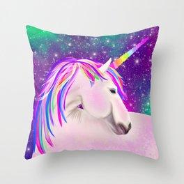 Celestial Unicorn Throw Pillow