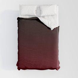 Dark Burgundy ombre Duvet Cover