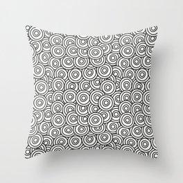 Stark Circles Throw Pillow