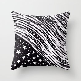 Stars and more Abstract Throw Pillow