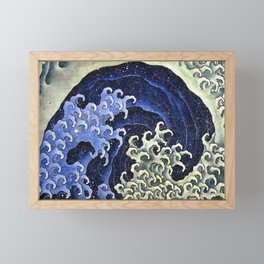 Hokusai Feminine Wave Japanese Vintage Fine Art Framed Mini Art Print