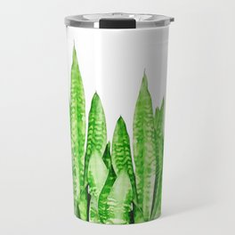 Sansevieria trifasciata wall Travel Mug