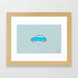 Azul. Framed Art Print