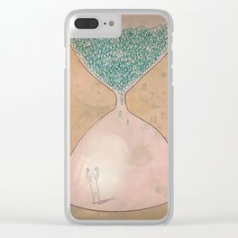 The Captain and The Hourglass Clear iPhone Case