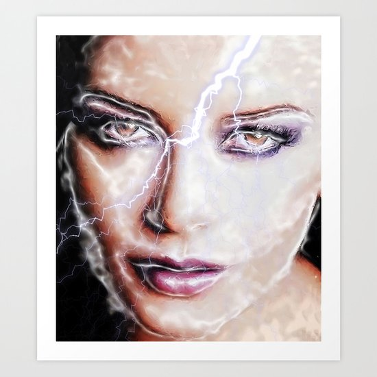 Shes Electric Art Print