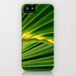 The green fan by Laila Cichos iPhone Case