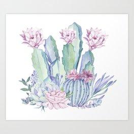 Desert Love Cactus + Succulents Art Print