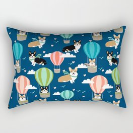 Corgi Hot Air Balloon Dog design - corgi dogs cute dog design Rectangular Pillow