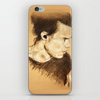 harry styles iPhone & iPod Skins featuring Harry Styles by Drawpassionn