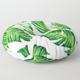 Banana Leaves pattern in watercolor Floor Pillow