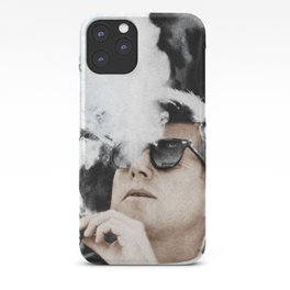 JFK Cigar and Sunglasses Cool President Photo Photo paper poster Color iPhone Case