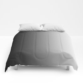 Black to White Vertical Linear Gradient Comforters