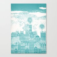 earth Canvas Prints featuring Earth by David Fleck