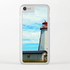 Red Light of North Cape Lighthouse Clear iPhone Case